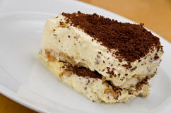 Tiramisu on White Stock Photos