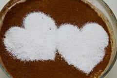 Tiramisu zoet dessert Royalty-vrije Stock Afbeelding