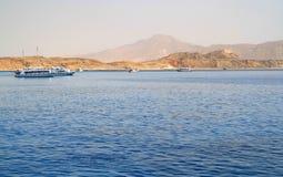Tiran island coast. Coastline of Tiran Island - Egypt Royalty Free Stock Photography