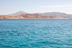Tiran island Egypt view from the sea. Tiran island Egypt view from Red sea can be background Stock Photos