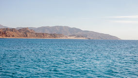 Tiran island Egypt view from the sea Royalty Free Stock Photography