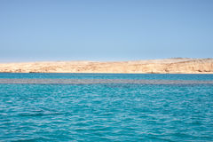 Tiran island Egypt view from the sea Stock Images