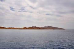 Tiran Island in the Gulf of Aqaba, Sharm El-Sheikh, Egypt. Red sea near Sharm el Sheikhin Egypt. Island Tiran Royalty Free Stock Photos