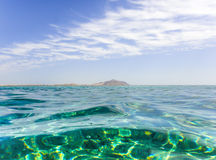 Tiran Island of Red Sea. In Egypt Stock Image