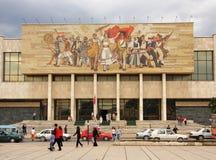 Tirana, Albani?, Nationaal Museum Stock Foto