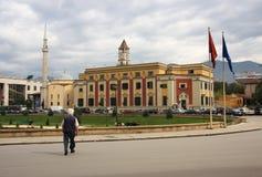 Tirana, Albania, goverment building royalty free stock image