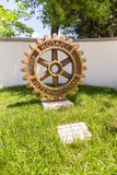 Rotary Club Monument in the center Tirana, Albania. royalty free stock photography