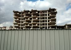 New apartment block under construction, Tirana, Albania royalty free stock photography