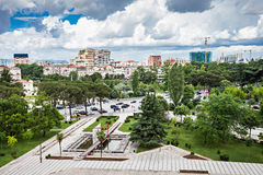 Tirana, Albania. Panorama view to the city, Tirana, Albania stock photo