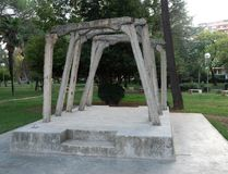 Concrete Beams and Pillars from Soviet-Era Labor Camp, Spac, in Albania