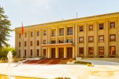 Tirana, Albania. SEPTEMBER 23, 2013: Government house of Albania, on September 23, 2013 royalty free stock photo