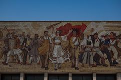 The Albanians Mural at the National Museum of History in Tirana