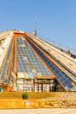 Tirana, Albania. SEPTEMBER 23, 2013: Pyramid of memory, one of the historical symbols of Tirana, on September 23, 2013 stock images