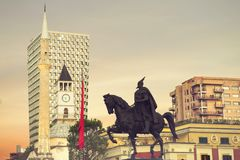 Tirana-Besichtigung Lizenzfreie Stockfotografie