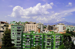 Tirana, capital of Albania. Tirana, modern capital city, Albania Stock Image