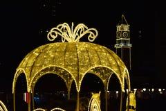 Tirana Christmas Decoration stock images