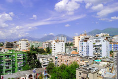 Tirana city. Albanian capital city is a modern and colorful Royalty Free Stock Images