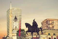 Tirana que hace turismo Fotografía de archivo libre de regalías