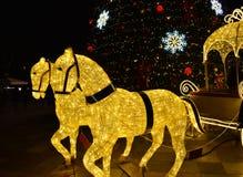Tirana-Weihnachtsdekoration stockfoto
