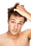 Trazione dei capelli Fotografia Stock