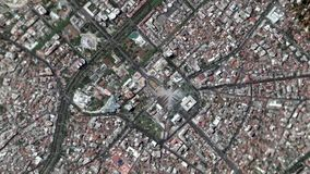 Earth Zoom In Zoom Out Tirane Albania. Tirane - Albania seen from space to street level stock video footage
