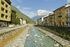 Tirano, Italie. Photos stock