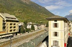 Tirano, Italy. Stock Photo
