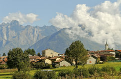 Tirano, Italy. royalty free stock image