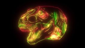 Tiranosaurio de Digitaces que se enciende para arriba con los lasers stock de ilustración