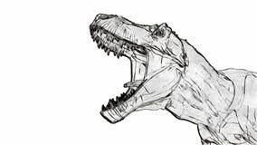 Tiranosaurio que ruge ilustración del vector