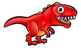 Tiranosaurio Rex Dinosaur Cartoon Character Fotos de archivo libres de regalías