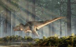 Tiranosaurio Rex en un bosque foto de archivo libre de regalías