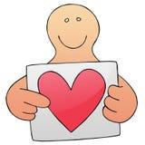 Tirante con la cartolina d'auguri del biglietto di S. Valentino Immagine Stock
