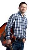 Tirante con una chitarra Fotografie Stock