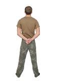 Tirante del soldato dell'esercito Immagini Stock