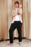 Tirante in jeans Fotografia Stock Libera da Diritti