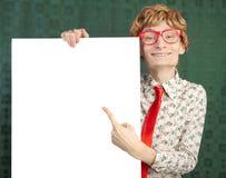 Tirante nerdy divertente Fotografie Stock Libere da Diritti