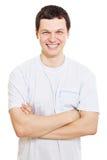 Tirante sorridente con le braccia attraversate Fotografia Stock Libera da Diritti