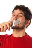 Tiranti con nastro adesivo Fotografia Stock Libera da Diritti