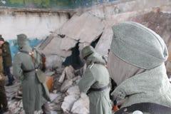 Tirar una película sobre Stalingrad Imágenes de archivo libres de regalías