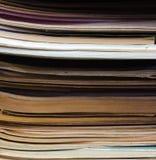 Tiras abstractas de la página del libro de la textura Fotos de archivo libres de regalías