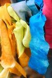 Tiras coloridas del paño del rezo Foto de archivo libre de regalías