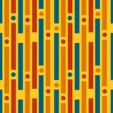 Tiras coloridas e círculos Teste padrão geométrico ilustração do vetor