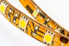 Tiras com 3 microplaquetas e 1 diodo emissor de luz das microplaquetas SMD Fotografia de Stock Royalty Free