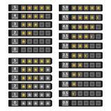 Tiras con las estrellas de oro Imagen de archivo libre de regalías