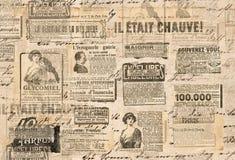 Tiras creativas del periódico de la textura del documento de información del vintage imagen de archivo