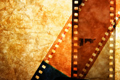 Tiras da película processada Imagens de Stock Royalty Free