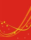 Tiras de amarelo e da laranja Foto de Stock