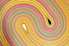 Teste padrão de yang do yin das tiras de borracha Fotos de Stock