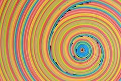 Centro baixo-direito do teste padrão vibrante da bobina das tiras de borracha Imagens de Stock Royalty Free